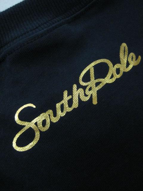 (大きいサイズ)SOUTHPOLE(サウスポール)クラウン箔プリント ロンTEE