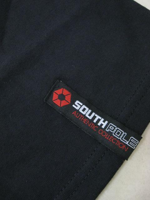 (大きいサイズ)SOUTHPOLE(サウスポール)ソード箔プリント ロンTEE
