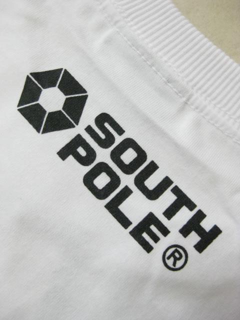 (大きいサイズ メンズ 通販 デビルーズ)SOUTHPOLE(サウスポール)迷彩ポケット付き 袖切替プリントTEE
