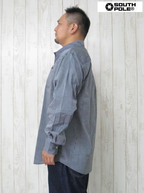 (大きいサイズ メンズ 通販 デビルーズ)SP(サウスポール)オックスフォード長袖シャツ
