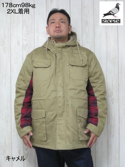 (大きいサイズ メンズ 通販 デビルーズ)STAPLE(ステイプル)「HUNTER」中綿ジャケット