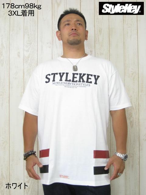 (大きいサイズ メンズ 通販 デビルーズ)STYLEKEY(スタイルキー)「FUSION」TEE