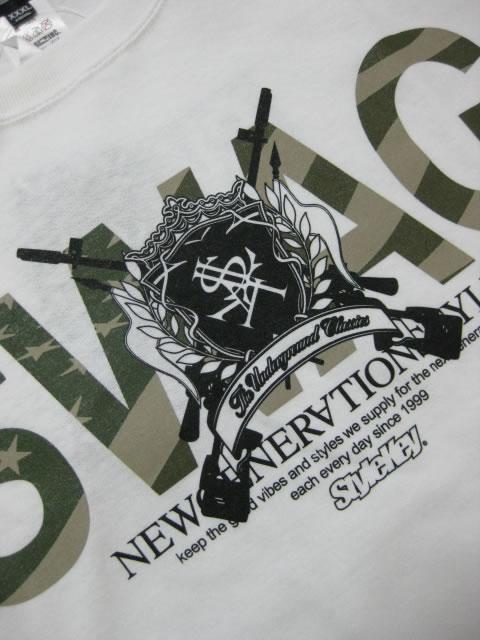 (大きいサイズ メンズ 通販 デビルーズ)STYLEKEY(スタイルキー)「MILITARY FLAG」TEE