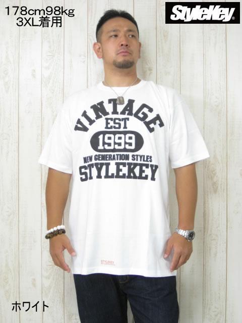 (大きいサイズ メンズ 通販 デビルーズ)STYLEKEY(スタイルキー)「VINTAGE」TEE