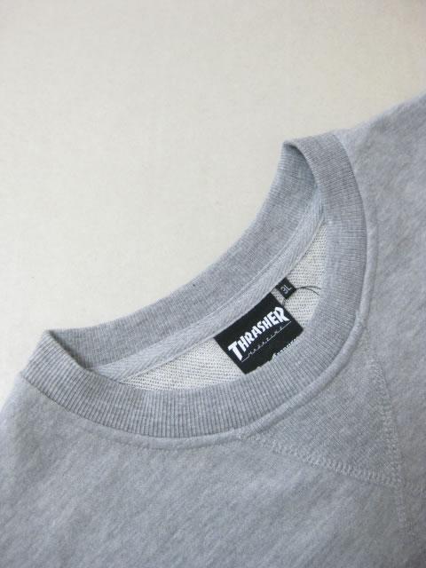 (大きいサイズ メンズ 通販 デビルーズ)THRASHER(スラッシャー)「FIRE」スウェットシャツ