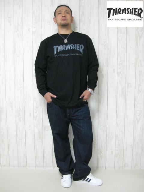 (大きいサイズ)THRASHER(スラッシャー)「MAG LOGO」ロンTEE