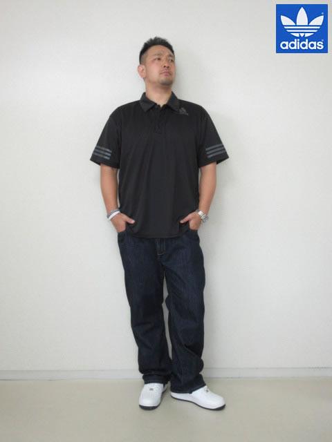 (大きいサイズ メンズ 通販 デビルーズ)adidas(アディダス)「CLIMALITE」半袖ポロシャツ