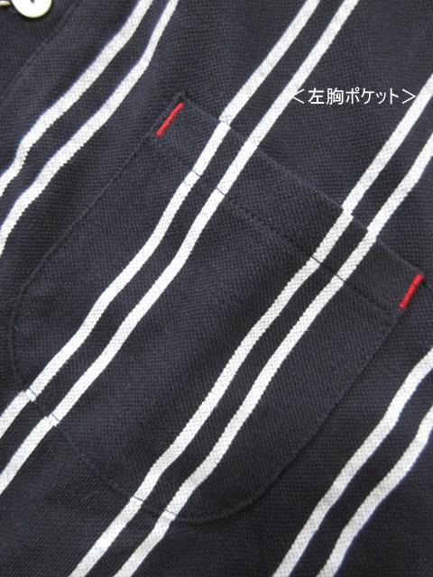 (大きいサイズ メンズ 通販 デビルーズ)CREATION CUBE(クリエーションキューブ)カノコストライプ半袖ポロシャツ