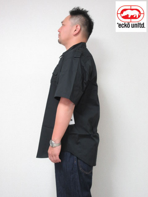 (大きいサイズ メンズ 通販 デビルーズ)ECKO UNLTD(エコーアンリミテッド)「BARRACKS」半袖シャツ