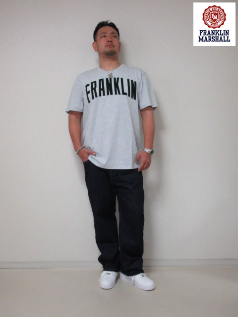 (大きいサイズ メンズ 通販 デビルーズ)FRANKLIN&MARSHALL フロッキーTEE