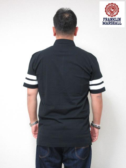 (大きいサイズ メンズ 通販 デビルーズ)FRANKLIN&MARSHALL ライン入り 半袖ポロシャツ