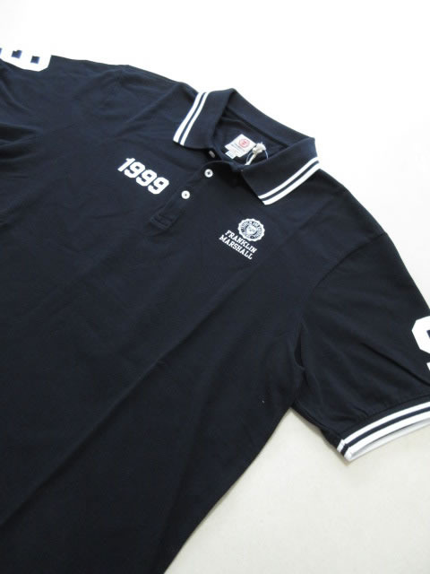 (大きいサイズ メンズ 通販 デビルーズ)FRANKLIN&MARSHALL ナンバリング半袖ポロシャツ
