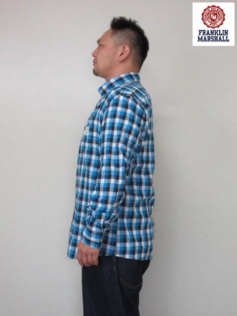 (大きいサイズ メンズ 通販 デビルーズ)FRANKLIN&MARSHALL「BRAVE」長袖シャツ