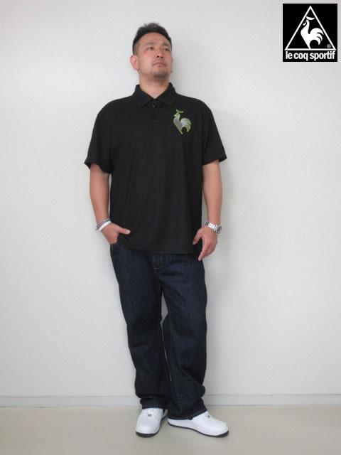 (大きいサイズ メンズ 通販 デビルーズ)LECOQSPORTIF(ルコックスポルティフ)「ONE POINT」半袖ポロシャツ