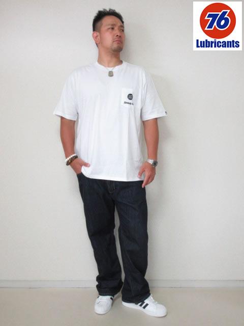 (大きいサイズ メンズ 通販 デビルーズ)Lubricants(ルブリカンツ)「76」ポケットTEE