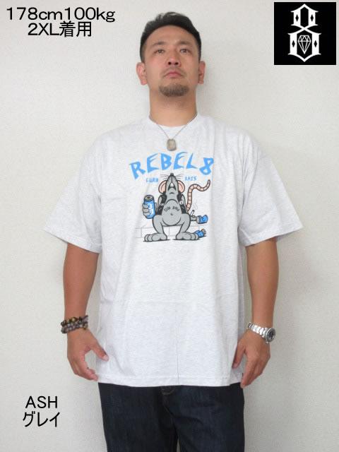 (大きいサイズ メンズ 通販 デビルーズ)REBEL8(レベルエイト)「CURB RATS」TEE