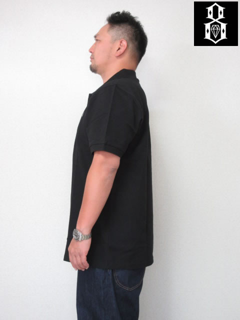 (大きいサイズ メンズ 通販 デビルーズ)REBEL8(レベルエイト)「BOVVER EMBROIDERED」半袖ポロシャツ