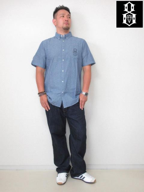 (大きいサイズ メンズ 通販 デビルーズ)REBEL8(レベルエイト)「POR VIDA」半袖シャツ