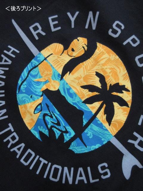 (大きいサイズ メンズ 通販 デビルーズ)REYN SPOONER(レインスプーナー)「SURF WAHINE」TEE