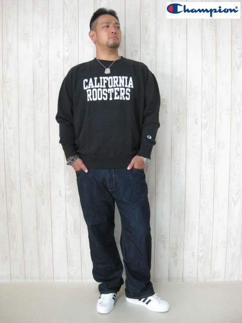 (大きいサイズ メンズ 通販 デビルーズ)Champion(チャンピオン)「CALIFORNIA」スウェットシャツ