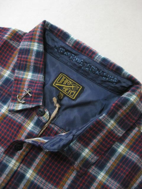 (大きいサイズ メンズ 通販 デビルーズ)DARKSEAS(ダークシーズ)「SLACKER」長袖ネルシャツ