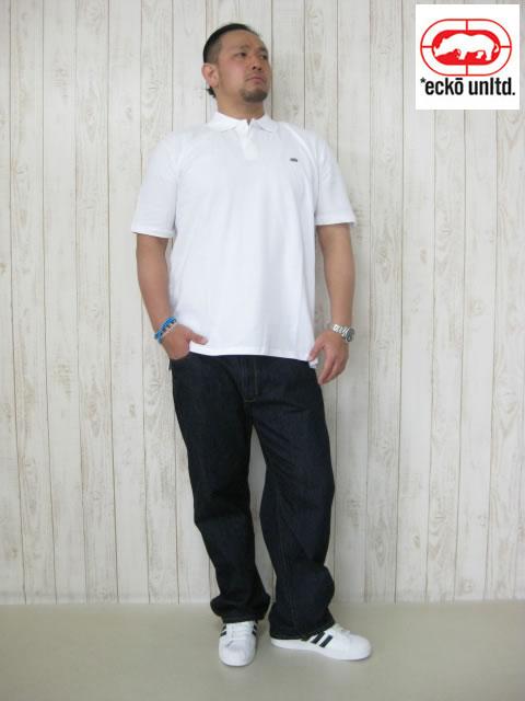 (大きいサイズ メンズ 通販 デビルーズ)ECKO UNLTD(エコーアンリミテッド)「STAPLE」半袖ポロシャツ