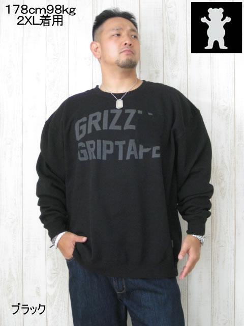 (大きいサイズ メンズ 通販 デビルーズ)GRIZZLY(グリズリー)「OVAL」ポケット付 スウェットシャツ
