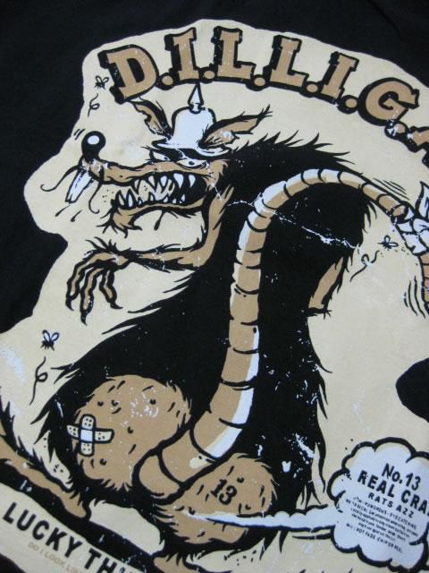 (大きいサイズ メンズ 通販 デビルーズ)LUCKY−16(ラッキーサーティーン)「RATS AZZ」TEE