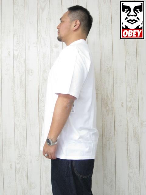 (大きいサイズ メンズ 通販 デビルーズ)OBEY(オベイ)「EIGHTY NINE」半袖ポロシャツ