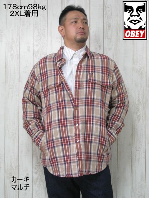 (大きいサイズ メンズ 通販 デビルーズ)OBEY(オベイ)「JAMES」ジャケット