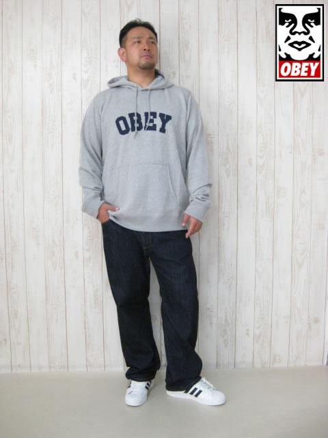 (大きいサイズ メンズ 通販 デビルーズ)OBEY(オベイ)「WATSON」HOODY