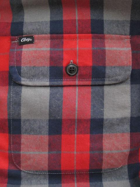 (大きいサイズ メンズ 通販 デビルーズ)OBEY(オベイ)「TRAILER」キルティングジャケット