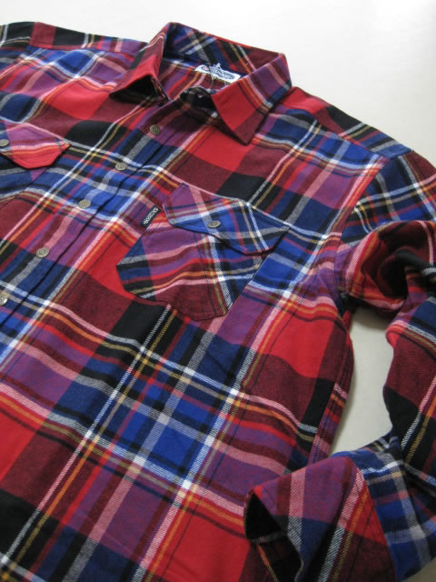(大きいサイズ メンズ 通販 デビルーズ)OUTDOOR(アウトドア)チェック長袖ネルシャツ