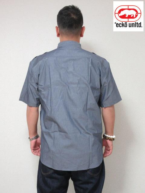 (大きいサイズ メンズ 通販 デビルーズ)ECKO UNLTD(エコーアンリミテッド)「SOLID CITY」半袖シャツ