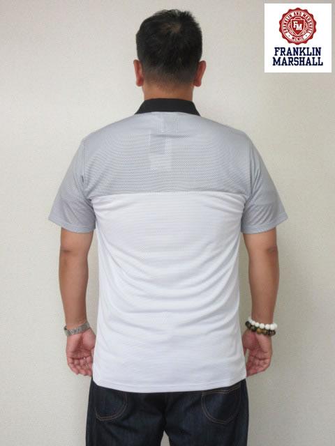 (大きいサイズ メンズ 通販 デビルーズ)FRANKLIN&MARSHALL 「MESH」半袖ポロシャツ